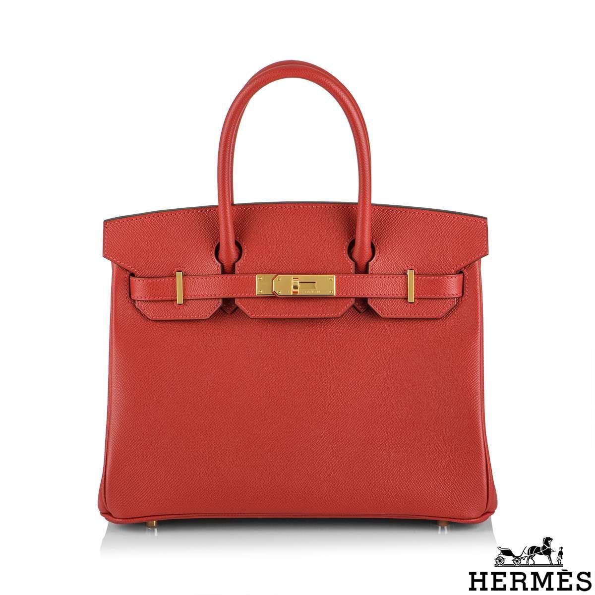 Hermès Birkin 30 Rouge Casaque Epsom GHW